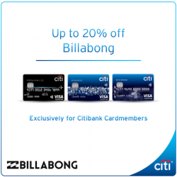 Billabong: Up To 20% Off With Citibank Cards
