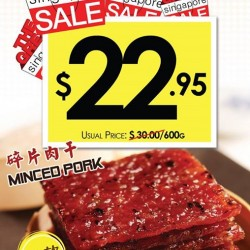 Bee Cheng Hiang: Miced Pork for $22.9 (Up:$30)