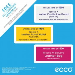 Ecco: Free Moment Membership with purchase of any regular priced items