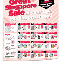 MediaCorp Magazines Great Singapore Sale