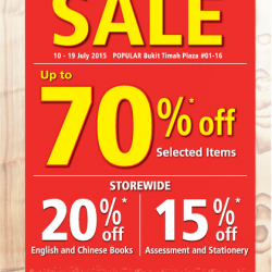 Popular Bukit Timah Plaza Pre-Renovation Sale: Up to 70% off