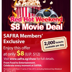 Shaw Theatres: $8 Movie Deal