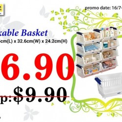 JapanHome: Stackable basket @ only $6.90 (U.P 9.90)