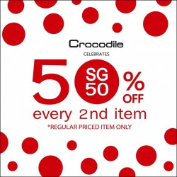 Crocodile: celebration of SG50@get up to 50% off