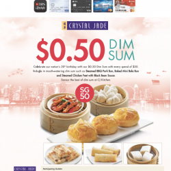 Crystal Jade: S$0.5 Dim Sum with every S$30 spend