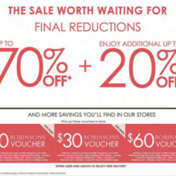 Robinsons: Final reductions for OCBC Robinsons Group Visa CardMembers
