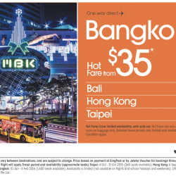 Jetstar: Hot Fare From S$35