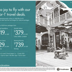 SilkAir: 1-for-1 Travel Deals