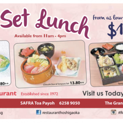 Hoshigaoka: Daily Set Lunch From S$10.80++