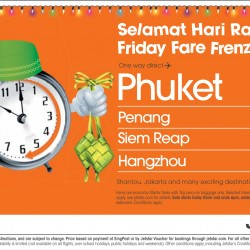Jetstar: Hari Raya Friday Fare Frenzy --- One way to Phuket from S$38