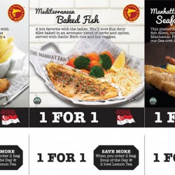 Manhattan Fish Market: 1-for-1 SG50 promotions