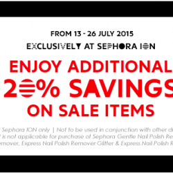Sephora: Extra 20% off sales items for black card members