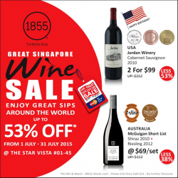 The Bottle Shop: Up to 53% OFF Great Singapore Wine Sale