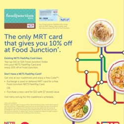 Food Junction: 10% OFF for Nets Flash Card Users