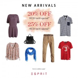 Esprit: Up to 25% off the latest arrivals!