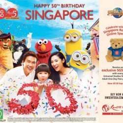 Universal Studio: Receive an exclusive SG50 Bear with every USS Adult One-Day Pass Purchased