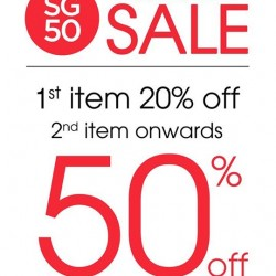Moley Apparels: 1st Item 20% OFF & 2nd Item Onwards 50% OFF