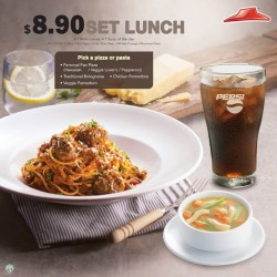Pizza Hut: Set Lunch @ $8.90