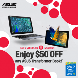 ASUS: $50 OFF any Transformer Book