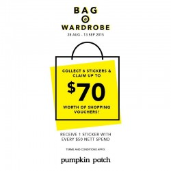 Pumpkin Patch: Collect 6 stickers and claim up to $70 worth of shopping vouchers