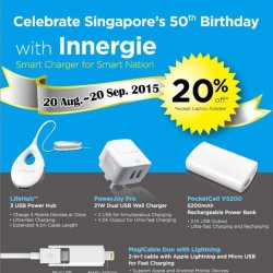 EpiCentre: SG50 Birthday with Innergie Smart Charger for Smart Nation at 20% off