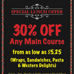 New Zealand Natural: 30% off Any Main Course (As low as $5.25)
