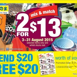 JAPAN HOME: Mix & match on selected items at any 2 for $13