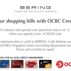 Bering Time: Enjoy 0% interest @ OCBC Credit Card