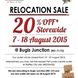 Pet Lovers Centre: Relocation sale @get up to 20% OFF
