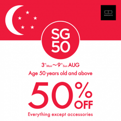 Owndays: 50% off Everything Except Accessories --- Age 50 years old & Above