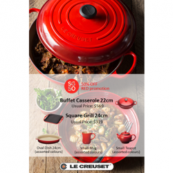 Le Creuset: 50% Off RED Promotion