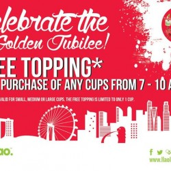 IlaoIlao: diving bandwagon & will be offer 1 free topping with purchase of Small, Medium or Large cups
