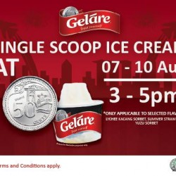 Gelare: Jubilee weekend @ offering 50 CENTS single scoop ice cream