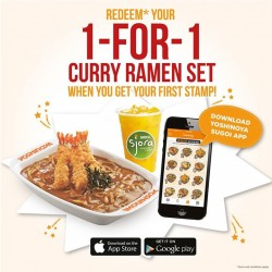 Yoshinoya: 1-for-1 Curry Ramen Set eVouchers (worth $17.80)