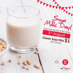 Mr Bean: Classic Soya Milk only @ $1 (U.P. $1.50).Today only