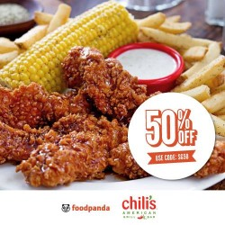 Chili's: foodpanda great offers 50% OFF on ALL orders for one day