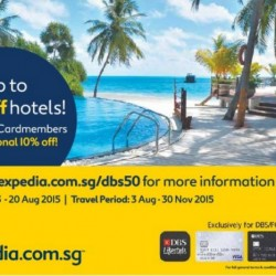 Expedia: SG50 Special --- DBS/POSB Card members get additional 10% OFF