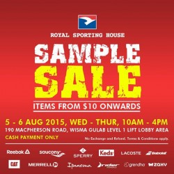 Royal Sporting House: Sample Sale For only 2 days from 5 - 6 Aug!