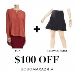 F3: top and bandage skirt for only $100 OFF