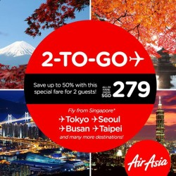 AirAsia:best travel partner & fly to these exciting destinations@50% Off