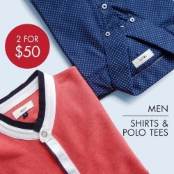 G2000: men shirts & polo tees @ $50 only