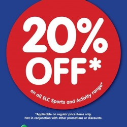 Early Learning Centre: 20% Off on All ELC Sports & Activity Range