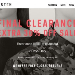 Farfetch: Extra 30% off sale price on final clearnance