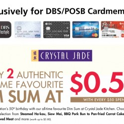 Crystal Jade: SG50 promotion for DBS/POSB Cardmembers