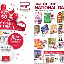 Warehouse Club: SG50 special deals starting 5 Aug 2015