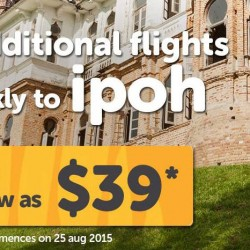 Tigerair: Fly to Ipoh for as low as $39*