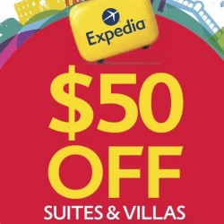 Expedia: $50 off Suites and Villas
