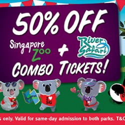River Safari: SG50 Promotion - 50% Off Singapore Zoo + River Safari Combo Tickets
