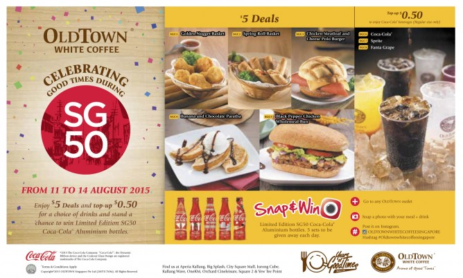Old Town White Coffee: Celebrate SG50 with $5 deals