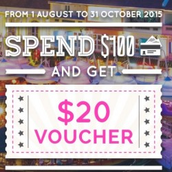 Singapore River: $20 voucher with $100 spend by Union Pay